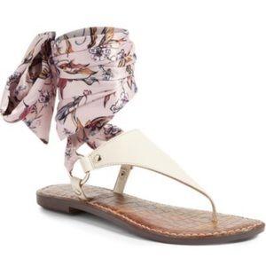 SAM EDELMAN Giliana Ankle Tie Thong Sandal   9.5